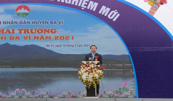 Đồng chí Chu Ngọc Anh tại khai trương du lịch Ba Vì 2021