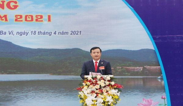 Đồng chí Đỗ Mạnh Hưng phát biểu tại sự kiện